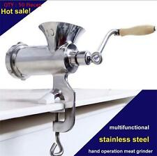 50X 10# STAINLESS STEEL MANUAL MEAT GRINDER WITH S/STEEL FOOD GRADE PLATES
