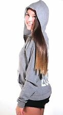 JUNK FOOD Clothing Zip Front Hoodie NO LOVE LOST KISS ME MEAN IT NWT Sz M XL