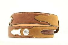 Ariat - PEBBLE LEATHER ~ Silver Buckle ~ MAN WESTERN BELT- Cowboy A10118 14