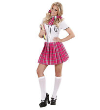 COLLEGE GIRL UNIFORM FANCY DRESS COSTUME OUTFIT PINK SCHOOL S, M, L, SIZES 8-16