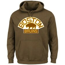 Boston Bruins MENS Sweatshirt Vintage Pullover Hoody Lightweight by Majestic