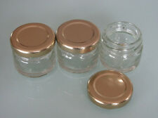 **SMALL*MINI*CLEAR GLASS JARS* perfect for gourmet foods, jellies, jams, honey**