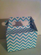 KRAFT & CHEVRON GABLE BOXES FOR PARTY FAVORS, FOOD GIFTS & MORE- BRAND NEW