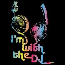 Neon Cool T Shirt I'm With The DJ Headphones Play Music Club Party Pass Dance