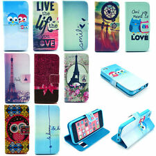 New Fashion Flip Leather Wallet Card Slot Stand Cover Case For Various Mobile