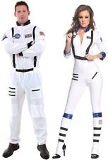 Couples Blast Off Astronaut Adult Costume Aviator Pair Duo Theme Party Halloween