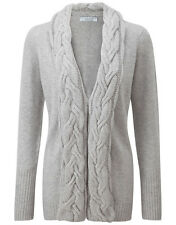 CO/AT Ladies' Hannah Cashmere Cardigan – Earl Grey
