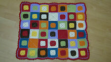 "Handmade Crochet Multicolor Warm Baby Blanket Throw  25"" x 29""  Gift Idea"