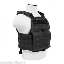 NEW PLATE CARRIER, MOLLE PALS TACTICAL VEST CHEST RIG ~ BLACK CVPCV2924B