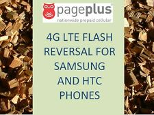 PAGE PLUS 4G LTE FLASH REVERSAL UNFLASH REPROGRAM SAMSUNG HTC PAGEPLUS
