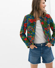ZARA FLORAL PRINTED JACKET BLAZER  SIZE S / M SOLD OUT IN STORES & ONLINE