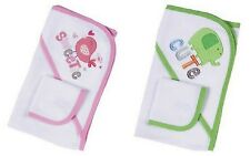 Gerber Baby 2-Piece Bath Set, Hooded Towel and Washcloth Infant Boys or Girls