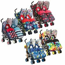 Cosatto Supa Dupa Double/Twin/Tandem Buggy/Pram/Pushchair/Stroller