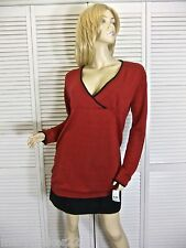 NWT-$68 CRUZ NATORI SWEATER XS/SML/MED/LG/X-LG RED TUNIC COTTON BLEND