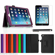 Leather Case Cover + Screen Protector For Apple iPad mini 2 with Retina Display