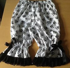 White bloomers with black skulls