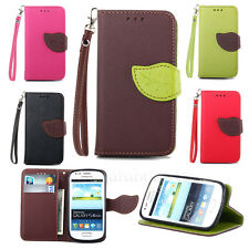 Carey For Samsung Galaxy S3 Mini i8190 Flip Wallet Leather Pouch Skin Case Cover