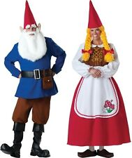 COUPLES MR AND MRS GARDEN GNOME ELITE COLLECTION ADULT COSTUME Elf Halloween