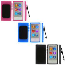 Color TPU Rubber Skin Case Cover with Belt Clip for iPod Nano 7th Gen 7 7G