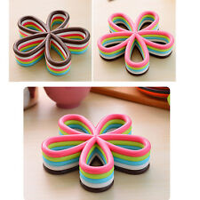 New cheap Silicone Coasters Flower Pad Cushion Tea Cup Bowl Tableware Placemat
