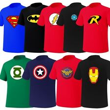 Mens Superhero FILM Marvel DC COMICS Batman Superman Flash GL TShirts Top Tee