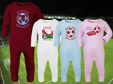 ASTON VILLA Football Baby Romper Suit Sleep Personalised Gift - Any team/colour