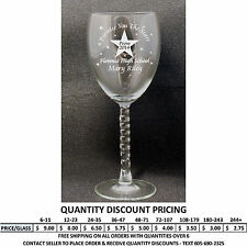 Personalized 10.5oz Wine Glass Prom Wine Glasses Custom Engraved Formal Dance A