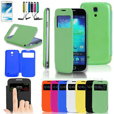 S View Smart Sleep Flip Cover Case Skin Coques For Samsung Galaxy S4 Mini i9190