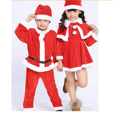 New Cute Baby Kids Santa Clause Boys Girls Fancy Dress Costume Christmas Outfit