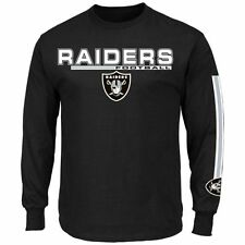 Oakland Raiders MENS Long Sleeve Shirt Primary Receiver V by Majestic