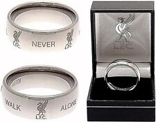 LIVERPOOL FC SUPER TITANIUM BAND RING COMPLETE IN GIFT BOX