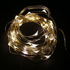 EW 2M String Fairy Light 20 LED Battery Operated Xmas Lights Party Wedding UK 2