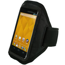 Black Running Gym Sports Armband Cover Case Arm Band Pouch For Cell Phones