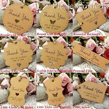 Personalized Brown Kraft Paper Wedding Favor Tags/Thank You Tags/ Gift Tags