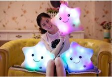 Home Decor Light Thrown Changing LED Colorful Light Smile Star Toss Pillows New