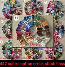40 skeins 447colors cross-sitich Embroidery Thread Floss DIY FRIENDSHIP BRACELET