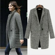 Women Warm Wool Cashmere Long Winter Parka Coat Trench Jacket Outwear Overcoat