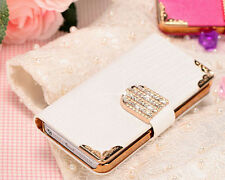 "New Luxury Crystal WALLET LEATHER FLIP CASE COVER FOR iPhone 6 Plus 4.7""/5.5"""