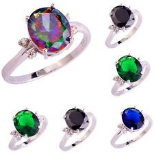 Rainbow Topaz Multi Gemstone Silver Jewelry Superb Ring Sizes 6 7 8  9 10 11 12
