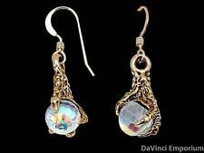 Arkenstone Earrings14k Yellow Gold Lord of the Rings and The Hobbit