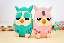 3D Cute Lovely Animal Owl Soft Silicon Gel Case For Samsung Galaxy S4 SIV i9500