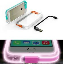 USB Charge Cable LED Flash Light UP Case For iPhone 4G/4S/5G/5S/6/6 Plus U373