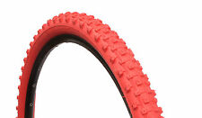 1 PAIR ( 2 TYRES ) MOUNTAIN MTB TYRES TIRES 26 x 2.10 ALL RED  M1101