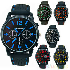 Men's Stunning Popular Silicone Stainless Steel Quartz Hours Sports Wrist Watch