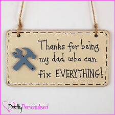 DIY Dad Plaque Sign for Fathers Day Gift Tool Shed Garage – MULTIPLE VARIATIONS
