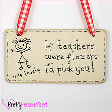 Thank You Teacher Plaque Gift Present Nursery Primary End of Term Leaving School
