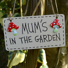 Mums In The Garden Shed Greenhouse Plaque Sign Gardener Gardening Gift Present