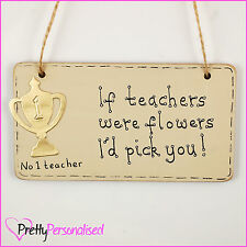 Trophy Thank You Wall Plaque Sign - for School Teacher Gift Present End of Term
