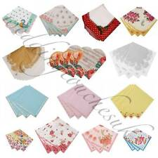 Luxury Paper Napkins Vintage Style Tea Party Accessories Hen Party Shabby Chic