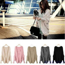 Hot Women's Stylish Knitted Cardigan Batwing Outwear Loose Coat Tops Sweater
